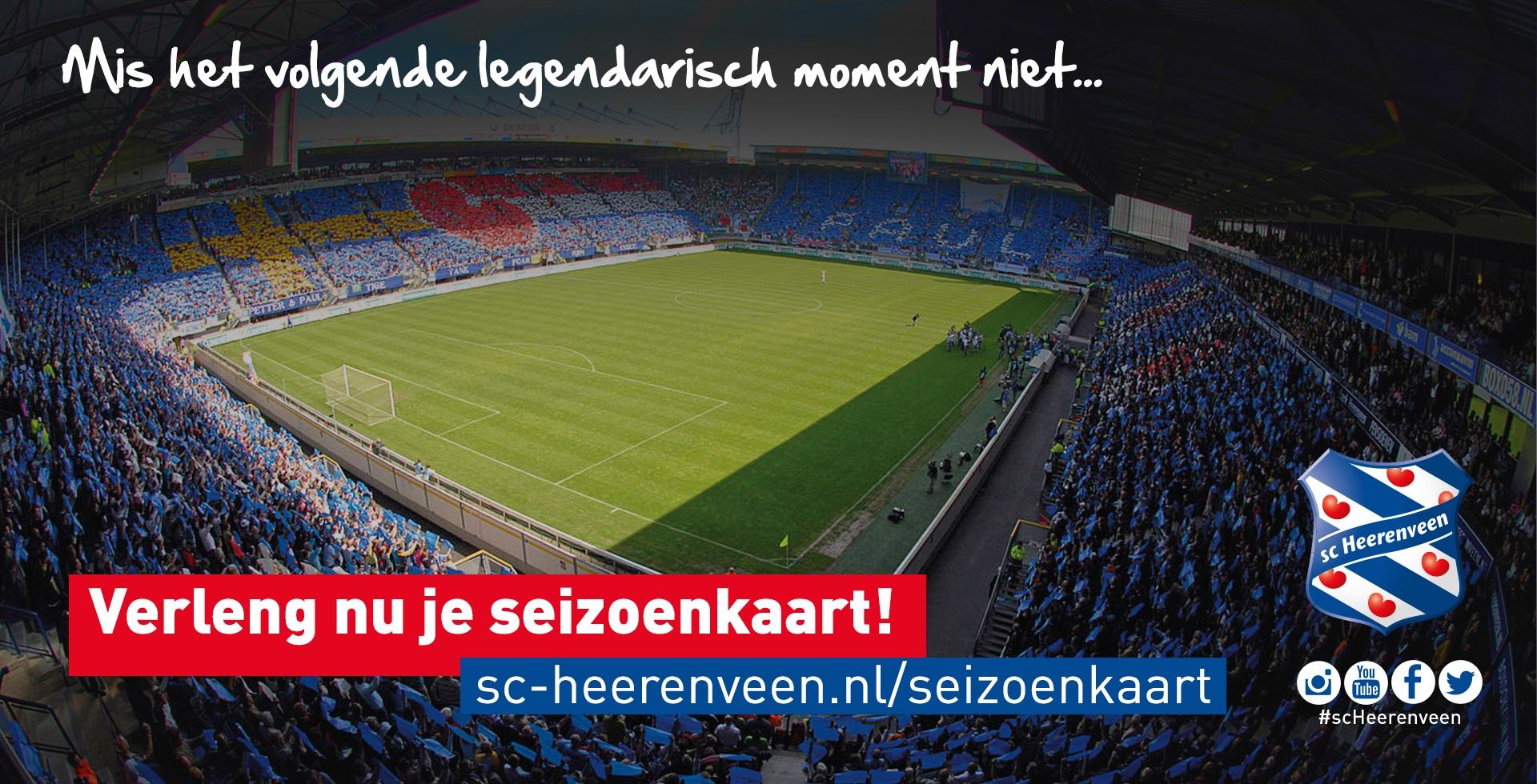 Verlengen of nieuwe seizoenkaarthouders SC Heerenveen