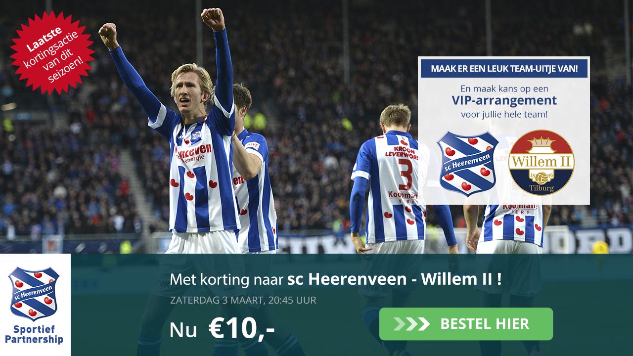 Nog 1,5 week: Kaartverkoopactiesc Heerenveen - Willem II