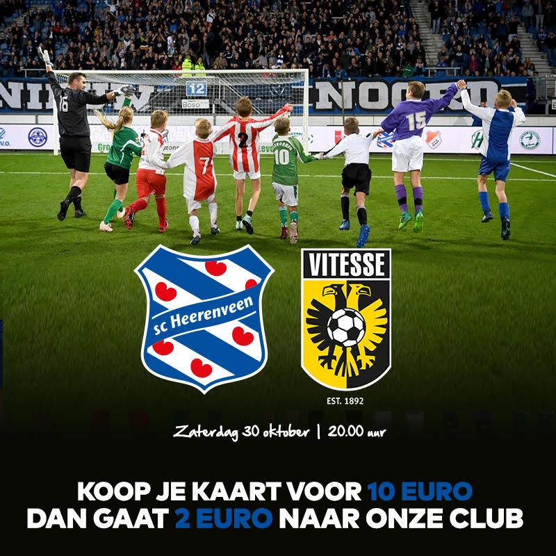 Ga jij ook naar sc Heerenveen - Vitesse?